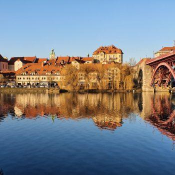 Pogled na Lent in stari most